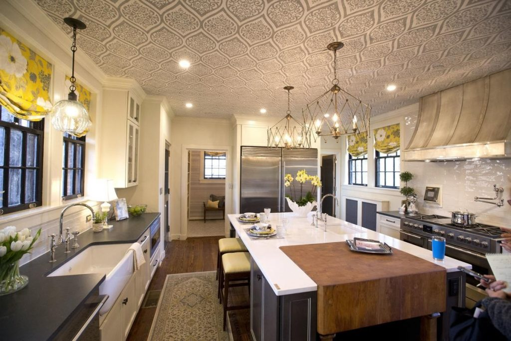 Welcoming Intimate Showhouse Kitchen: The Julian Price Mansion: A Hoarder House Restored
