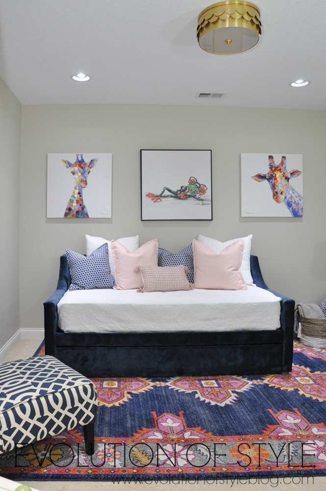 Navy and Pink Decor