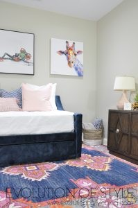 Spring 2018 One Room Challenge Reveal: Blush and Navy Zen Den